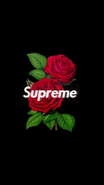 supreme rose wallpaper iphone image by Wallpaper Factry