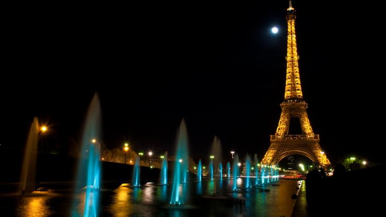 Eiffel Tour Night HD WallpaperWelcome To StarChop