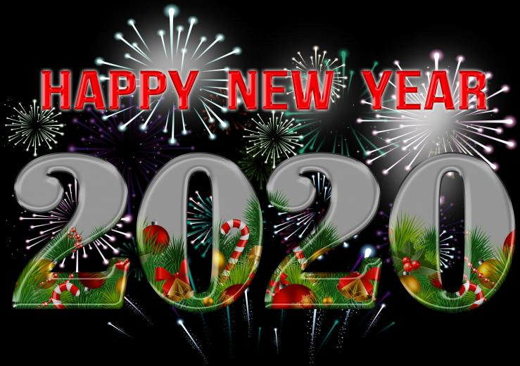 Happy New Year 2020 PNG Clipart Gallery Yopriceville   High