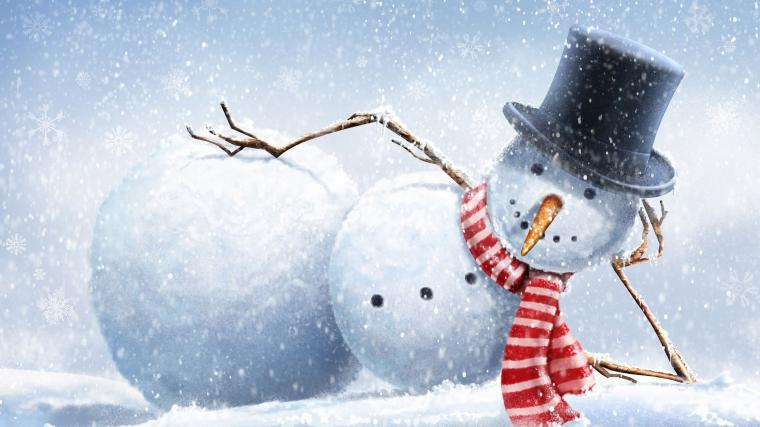 drawing snow winter snowman top hats branch carrots