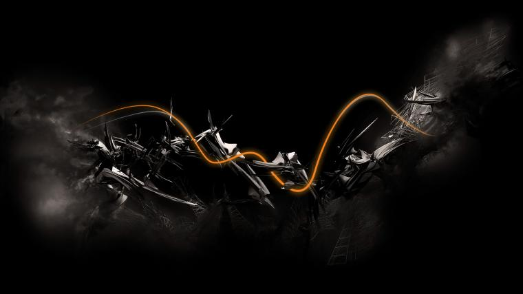 Black Abstract wallpaper   608410