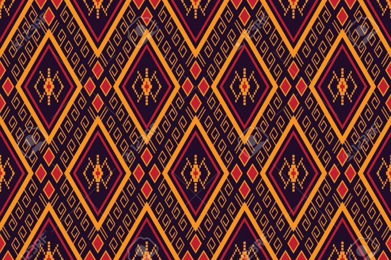 Geometric Ethnic Pattern Traditional Design For Backgroundcarpet