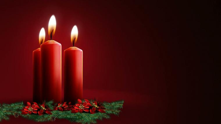 Download Christmas Candle lights HD Wallpapers for iPhone 5