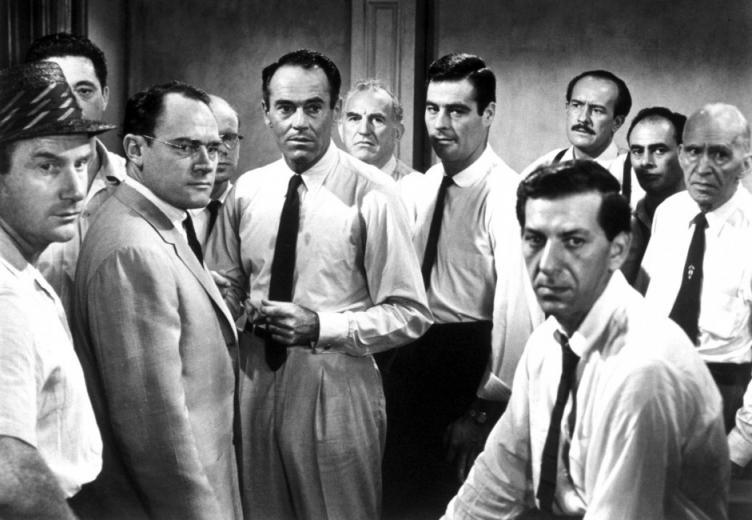 12 Angry Men Men Actors Black White Bw   Stock Photos Images
