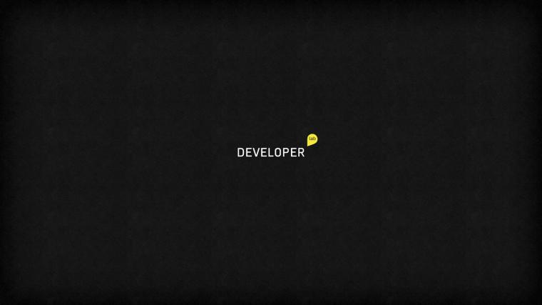 Developer Wallpaper Developer lab black minimalist