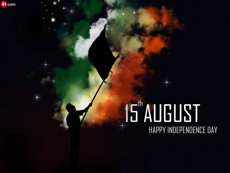 Happy independence 2015 day graphic colorful wallpapers with quotes