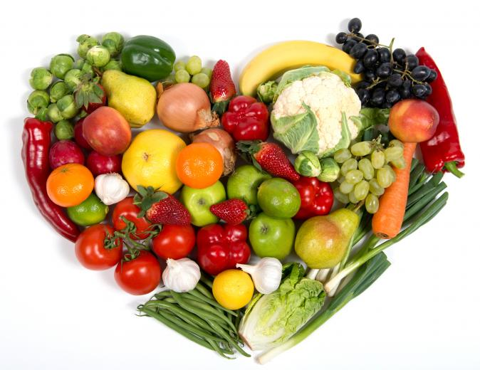 Fruits And Vegetables Heart   Unique Wallpaper
