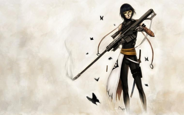 bleach sniper rifle barret 1685x1060 wallpaper Anime Bleach HD