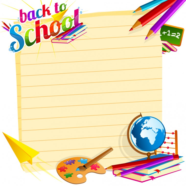 School backgrounds set 19   Vector Background download