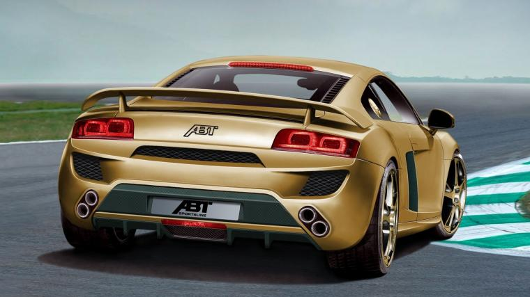 papel de parede Audi ouro retrovisor Audi R8 Carros widescreen