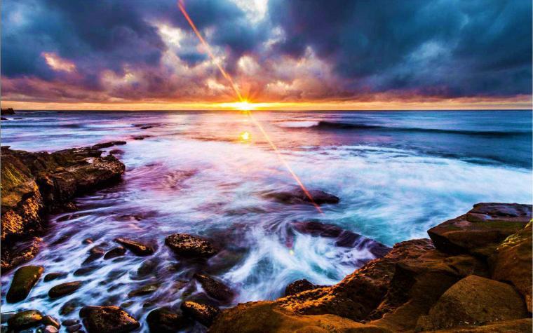 Gambar Wallpaper La Jolla Coastline Matahari Terbit dan Terbenam