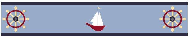 Kids Nautical Wallpaper Border for Boys Room or Nursery