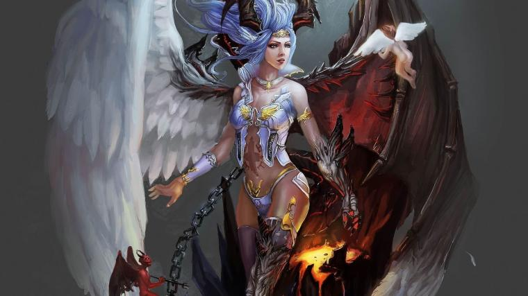 free hd wallpapers 1920x1080 fantasy angel and demon angel and demon