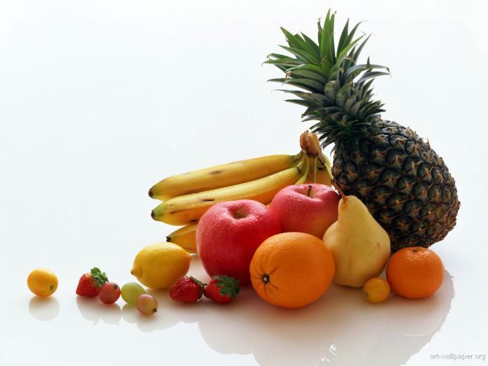 Fruit and Vegetables Wallpaper Fruit and Vegetables Art Print