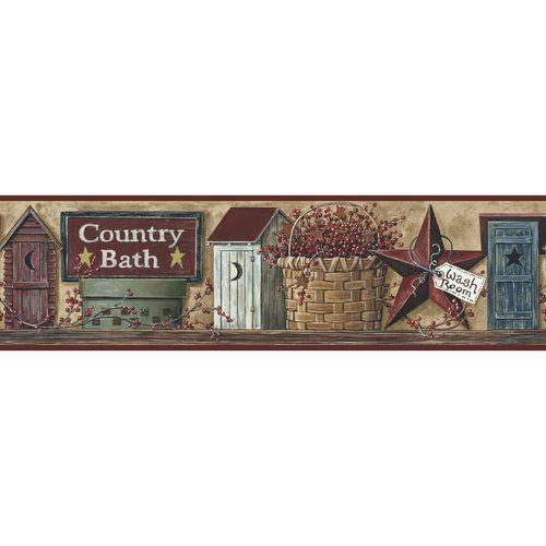 bathroom borders for walls and Garden Country Bath Border Other