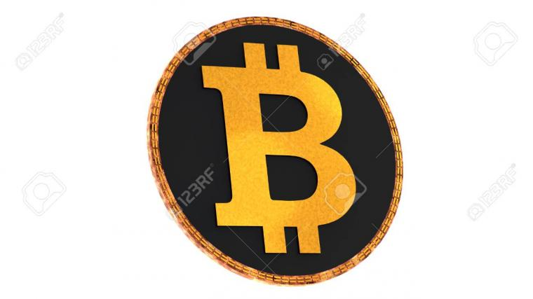 Bitcoin Isolated On White Background Domination Concept New