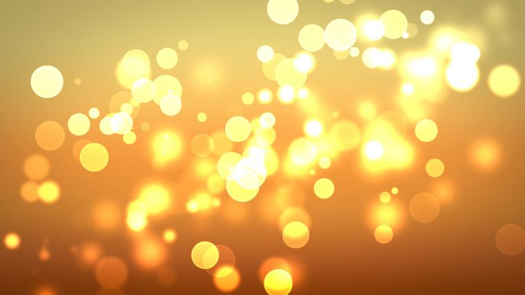 Golden circles of light wallpaper 16417