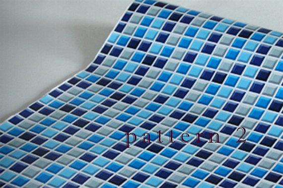 Removable Mosaic tiles pattern self adhesive vinyl Wallpaper accent