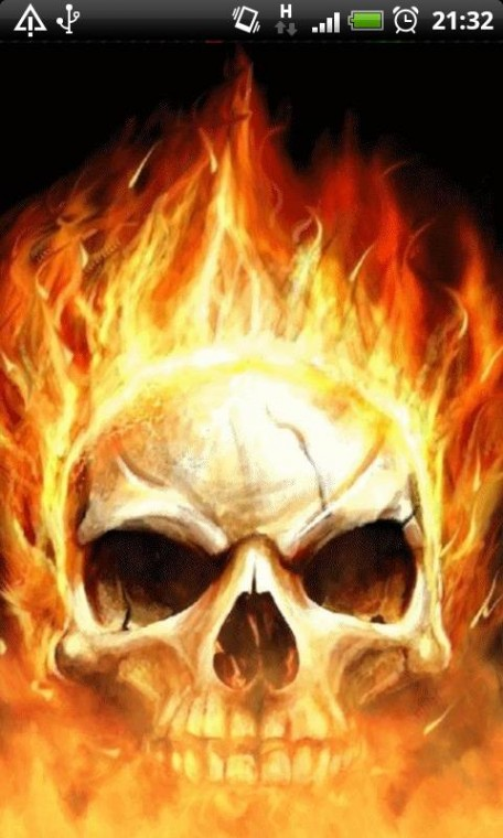 Download Skull Flames of Death Live Wallpaper for your Android