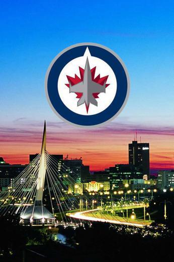 Winnipeg Jets Skyline with New Logo wallpaper Digital Citizen