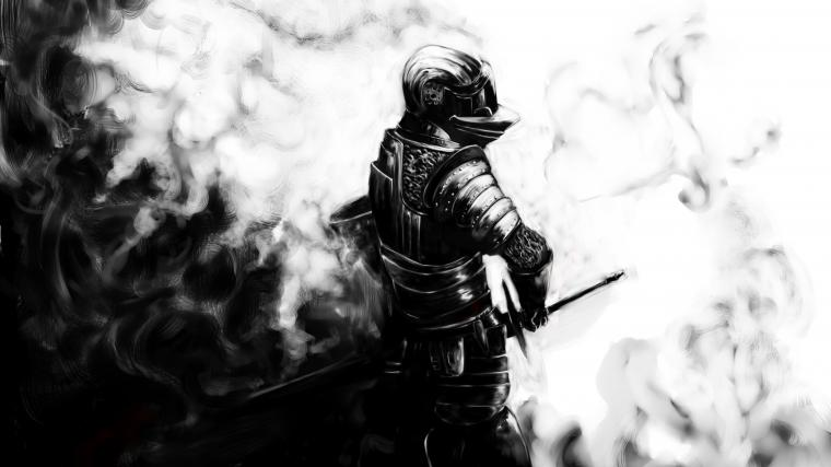 Dark souls Knight Sword Armor Helmet Wallpaper Background 4K