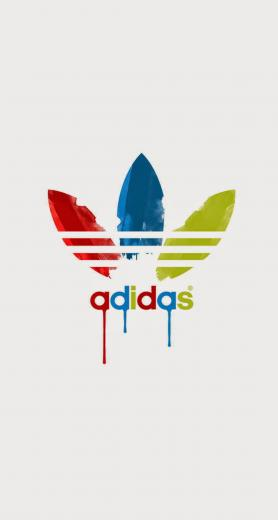 Adidas Dripping Paint Logo iPhone 6 Plus HD Wallpaper iPod Wallpaper