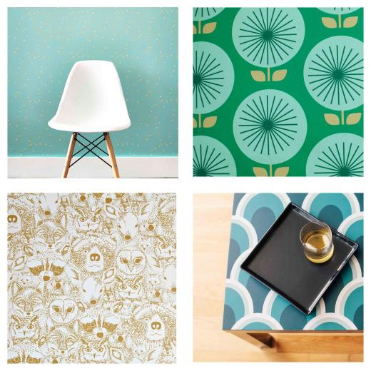 Chasing Paper Removable Wallpaper Star Bright top left Sunburst