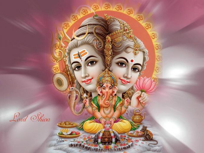 Download Lord Ganesha Lord Shiva Parvati Wallpaper   Full HD Wallpaper