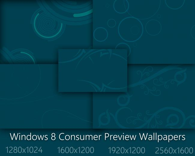 Windows 8 Consumer Preview Start Blue Wallpapers by Brebenel Silviu on