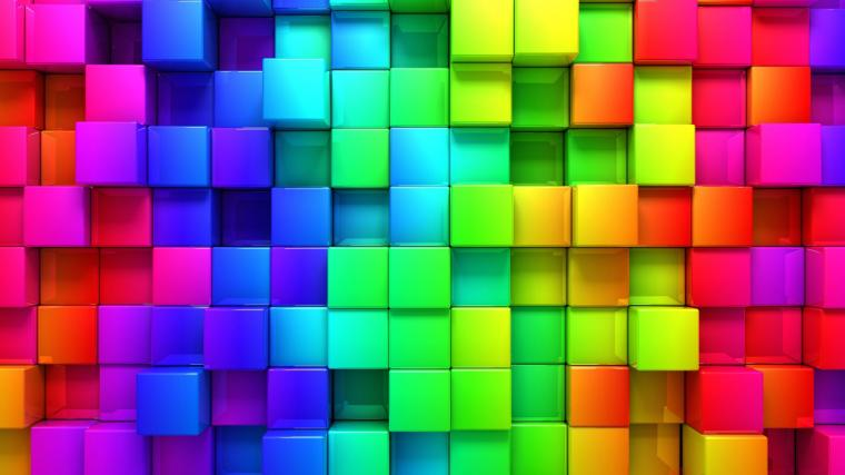 Download Cubic Rainbow HD wallpaper for 2560 x 1440   HDwallpapersnet