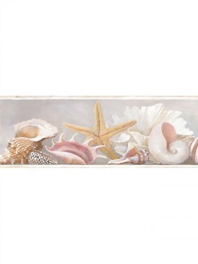 AZ5203BD Sea Shell Wallpaper Border Ocean Beach House eBay