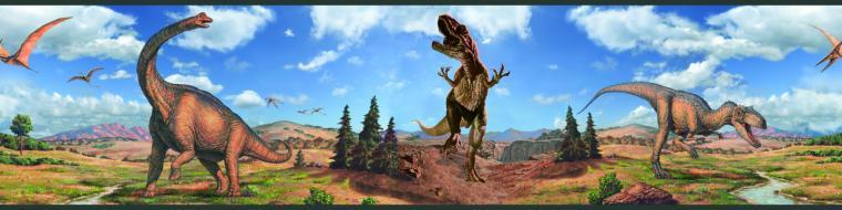 Dinosaur Peel and Stick Kids Wallpaper Border