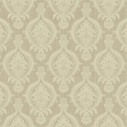 Brown and Beige Weave Damask Wallpaper   Wall Sticker Outlet