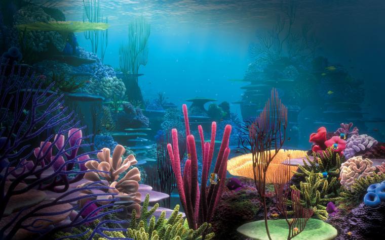 Sea underwater coral ocean fantasy wallpaper 1920x1200 153323