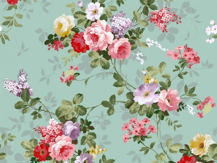 Download 15 Floral Vintage Wallpapers