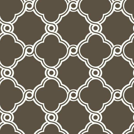 Brown White AP7488 Open Trellis Wallpaper   Contemporary Modern