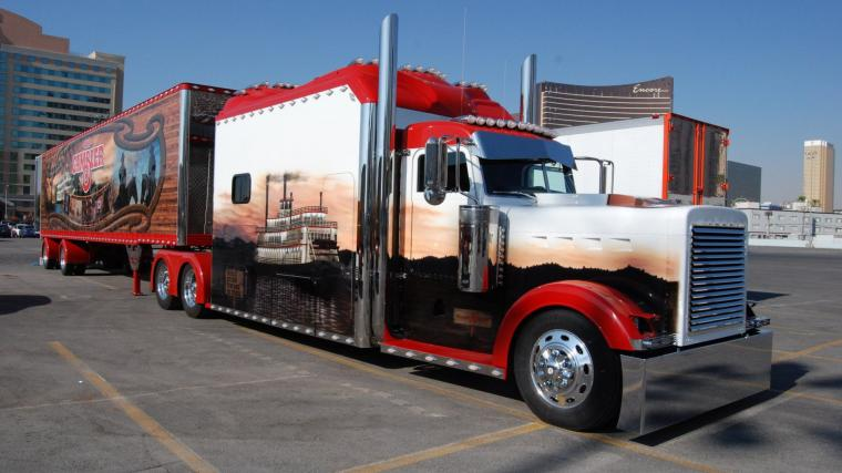 Peterbilt semi trucks tractor rigs wallpaper 1920x1080 53875