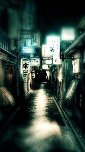 Japan Dark Street iPhone 6 Plus HD Wallpaper iPod Wallpaper HD