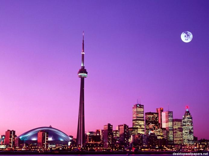 Skyline   Toronto Canada at desktopWallpapersnet