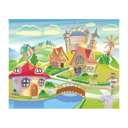 MD4058 Fantasy Village Kid Removable Wallpaper Mural Lowes Canada