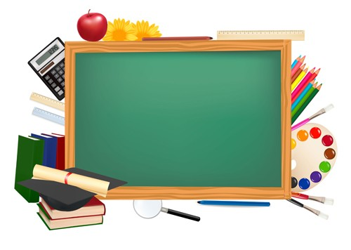 School elements background vector 03   Vector Background download