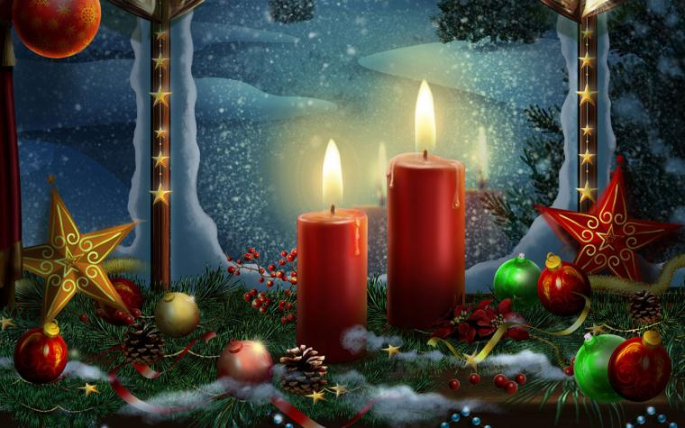 Christmas candles HD wallpaper 12 Holiday Wallpapers