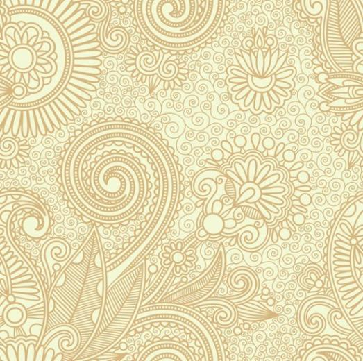 Abstract Seamless Floral Pattern Background Vector Graphics