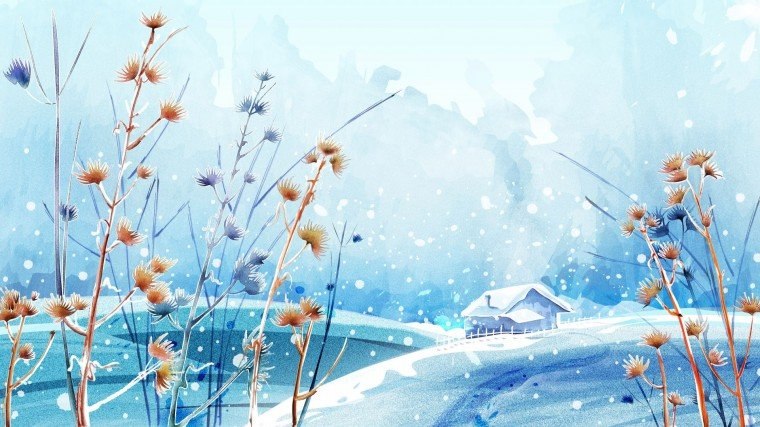 Beautiful Winter Day Desktop Wallpaper