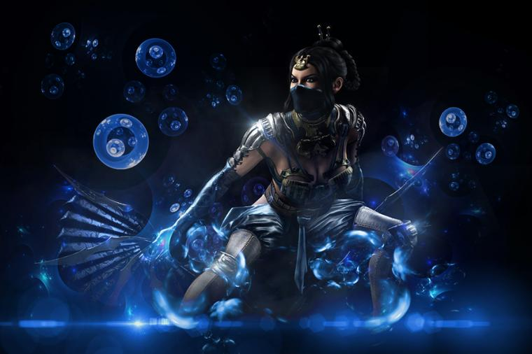 Kitana   MKX Wallpaper by yayaartpop