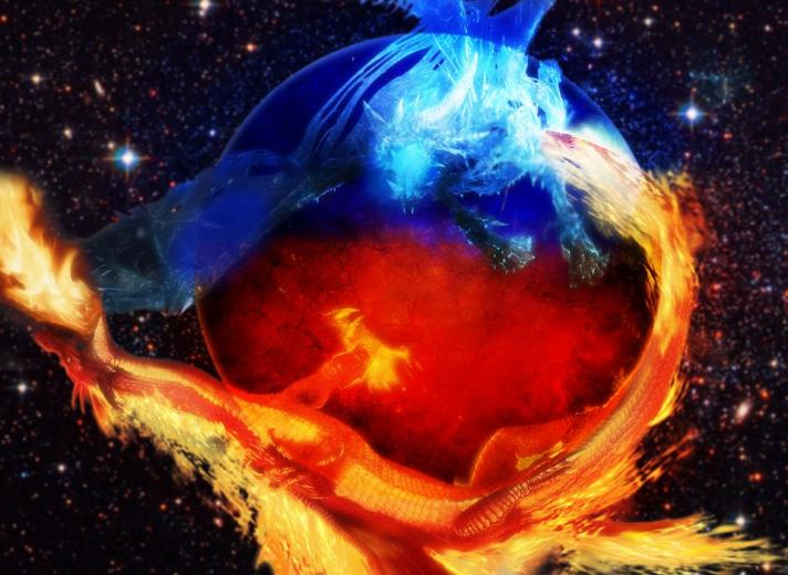 wallpaper Astonishing Fire And Ice Wallpapers