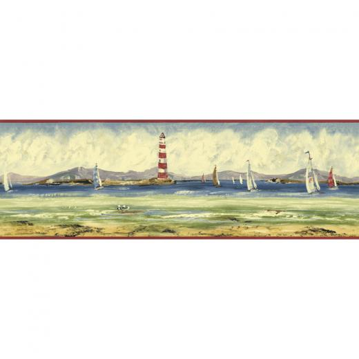 Sunworthy 6 78 Seashore Prepasted Wallpaper Border