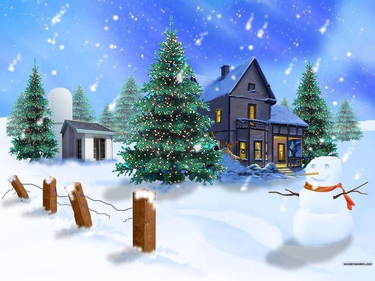 Winter Snowman Christmas Wallpaper Pinterest