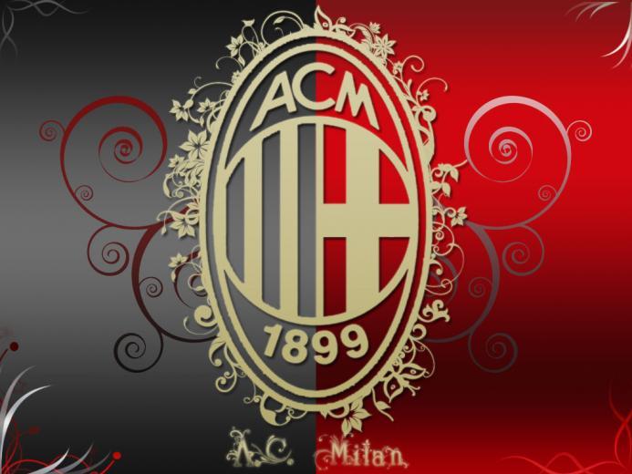 AC Milan Artistic Logo HD Wallpaper for Desktop and iPad