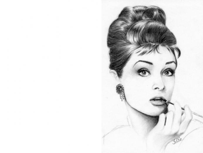 Audrey Hepburn Pencil Art Wallpapers HD
